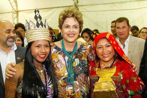 Palmas (TO) -  A presidenta Dilma Rousseff participa da cerimônia de abertura dos Jogos Mundiais dos Povos Indígenas 2015 (Roberto Stuckert Filho/PR)
