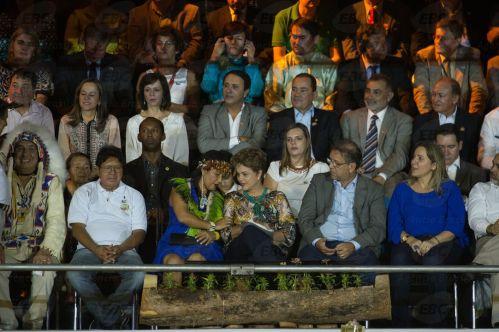 Palmas (TO) - A presidenta Dilma Rousseff participa da cerimônia de abertura dos Jogos Mundiais dos Povos Indígenas 2015 (Marcelo Camargo/Agência Brasil)