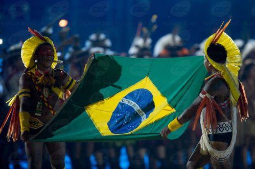 Palmas(TO) -  Cerimônia de abertura dos Jogos Mundiais dos Povos Indígenas ( Marcelo Camargo/Agência Brasil)